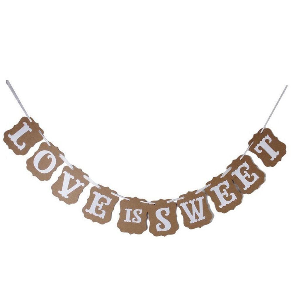 Cheap sweet wedding decoration find sweet wedding decoration deals get quotations generic love is sweet paper garland banner wedding banner party decoration junglespirit Choice Image