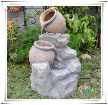 Patio En Résine Extérieure Pot Décoratif Fontaine D\'eau Pour Jardin ...