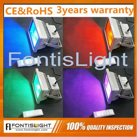 High Power Waterproof RGB Color LED 10W 30W Flood Light Outdoor Garden