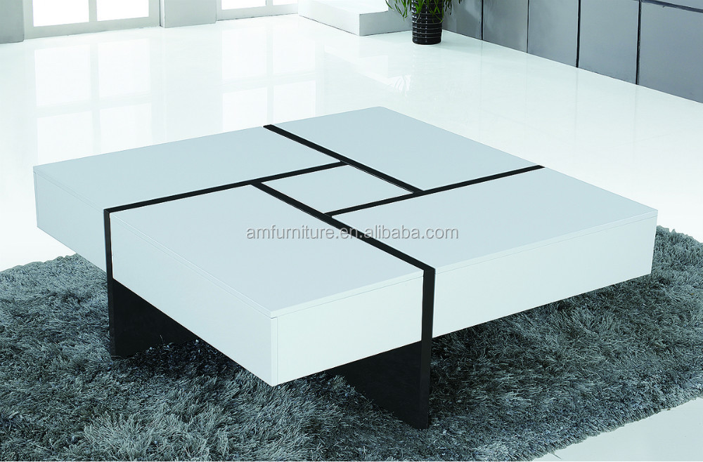 Good E 1 Mdf High Gloss White Table Top And Stainless Steel Legs Extending  Coffee Tables