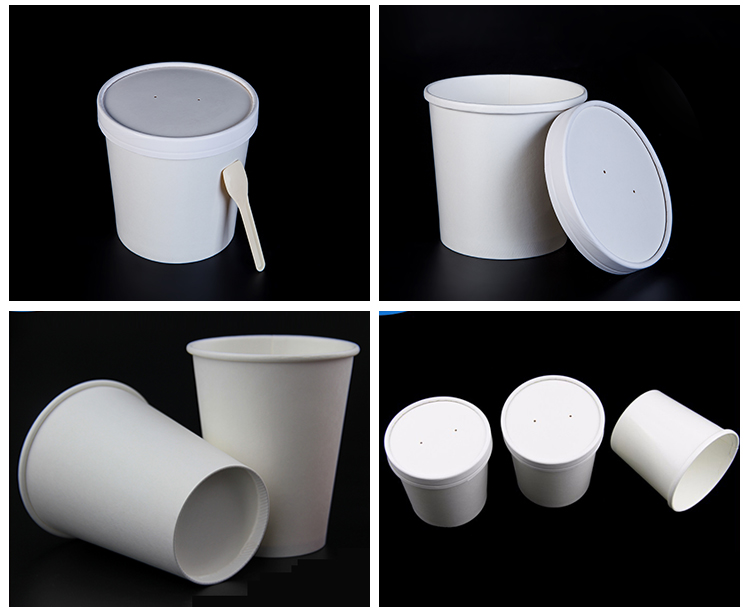 Instant Noodle Take Away Soup Bowl White Soup Paper Cup disposable