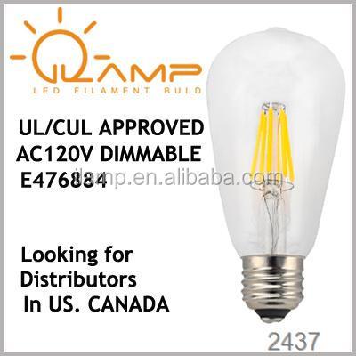 St64 amber 6 w filament led clip biljart verlichting, led-lichtbalk ...