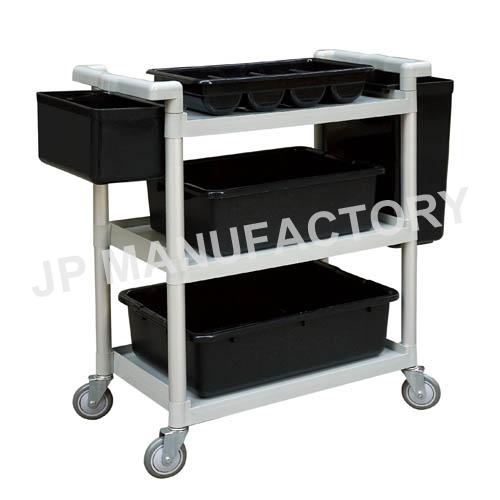 Restaurant Use Grey Plastic Utility Cart Service Cart