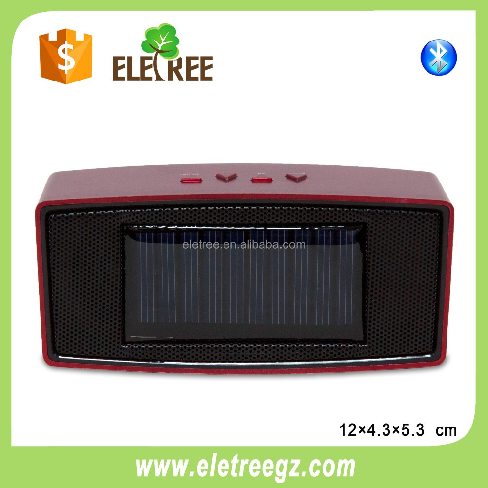 solar power bluetooth speaker fm wireless bluetooth speaker support handsfree call ch-381c