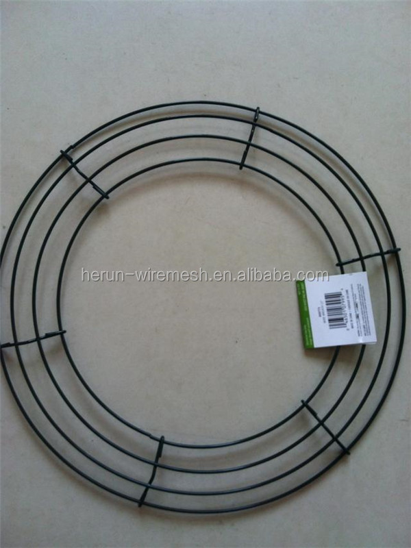 hr green color metal wire wreath frame - Wire Wreath Frame