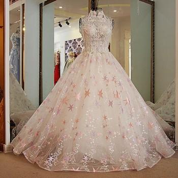 ls21778 cuello alto rosa real de cristal cuentas de flores impresas