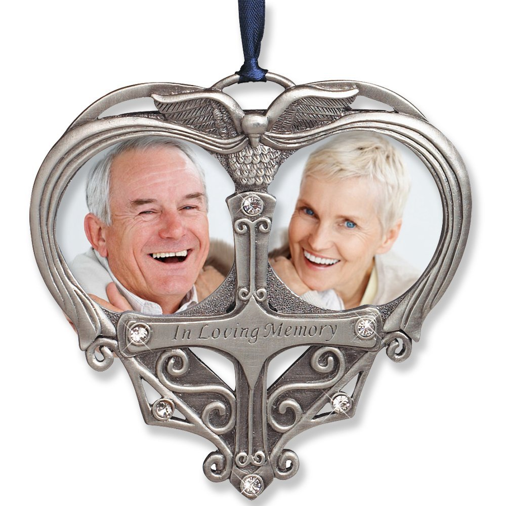 Buy Memorial Photo Ornament Double Picture Opening In Loving
