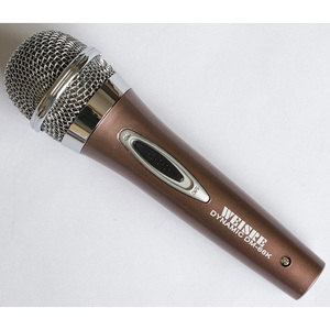 Brown Color Dynamic Plastic Microphone with long switch