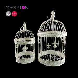 round decorative vintage metal bird cages