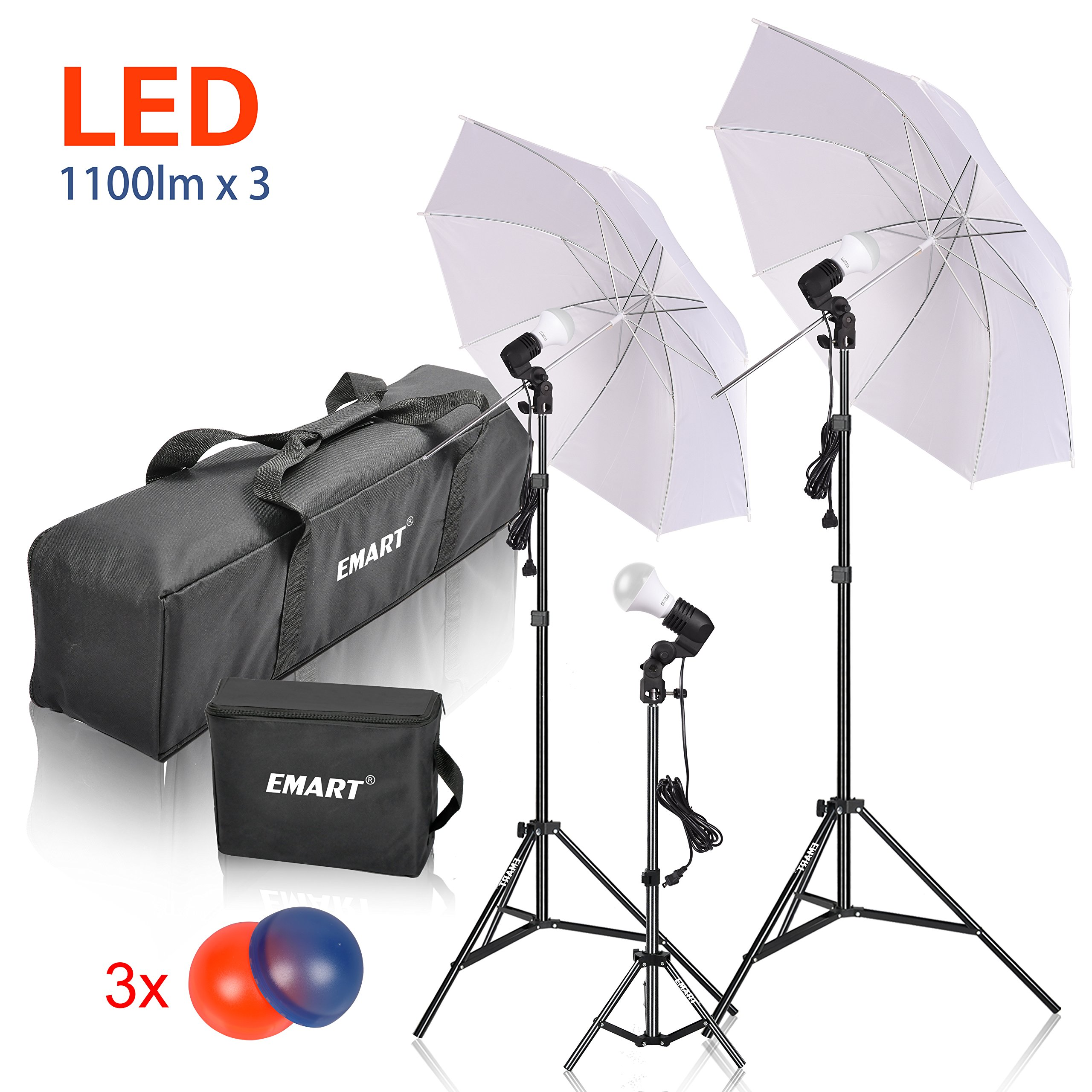 Cheap Umbrella Lighting For Video Find Lampu Studio Cfl 45w 5500k Get Quotations Emart Led Photography Kit 3 X 15w Photo Lights