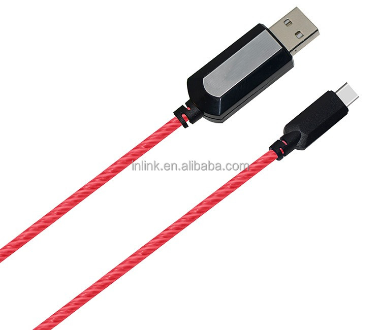 Latest mobile accessories el glow data charger cable usbc cable for letv