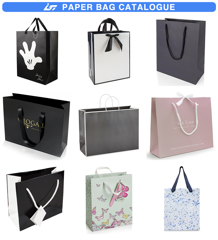 Custom logo printed luxury gift shopping paper bag
