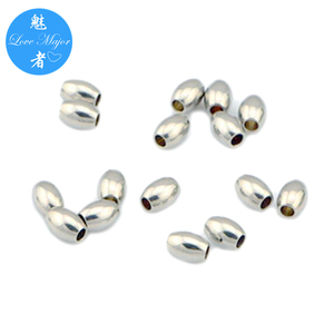 Various Size Avalibale Olive Shape Beads for DIY Fashion Stainless Steel Jewelry Making