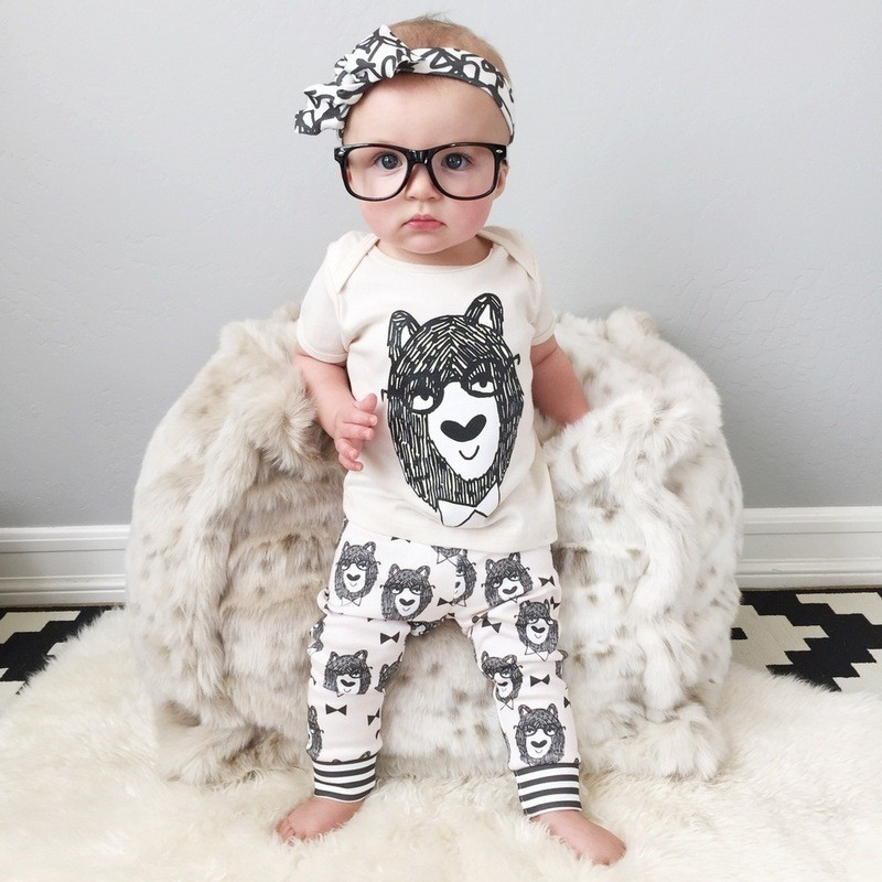 Cute Bear Printed Cotton Toddler Boys Baby Clothing Buy Baby