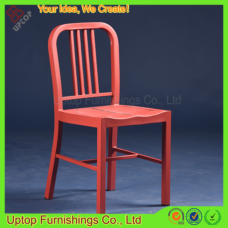 (SP-MC043) Wholesale red antique finish cafe used vintage metal chairs