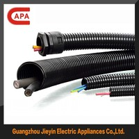 Black/Grey Corrugated Plastic Tubing/Hose/Pipes Suppliers for Wire Cable Hose