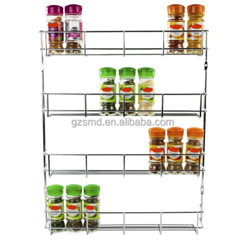 Keuken Chrome Draad 4 Tiers Kast Muurbevestiging Spice Display Rack Buy Spice Display Rackkruidenrekdraad Kruidenrek Product On Alibabacom