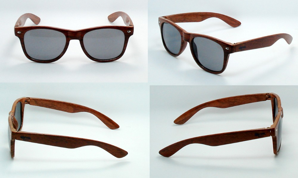 Customer logo wood-like sunglasses with UV400 lens very hot for Gift & Promotion Product