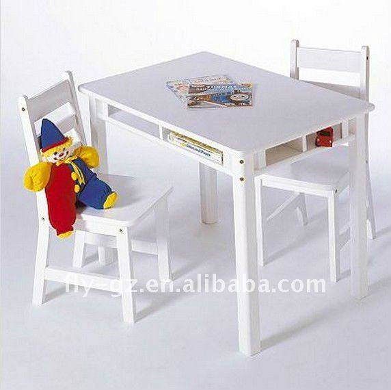 Simple Design Children Study Table Children Writing Table With Chair