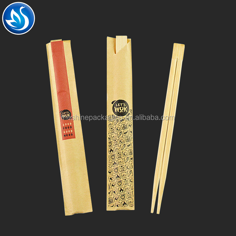 Free Custom printed twin tensoge 21cm 23cm 24cm novel twins naked bamboo chopstick disposable