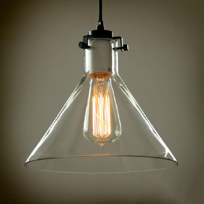 Vidrio vintage industrial light pendant utilizar bombilla de ...