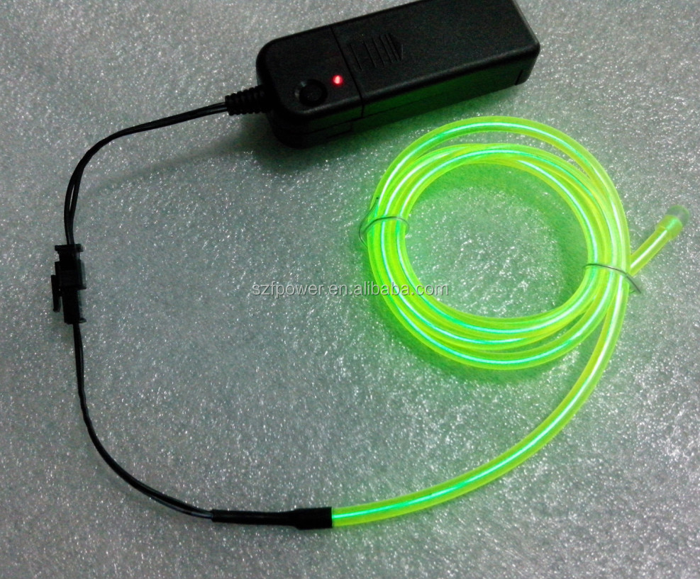 10 Colors Flexible For 1M 2M 3M 5M EL Wire Rope Tube Neon Cold Light Glow Party Car Decoration With Cigarette Lighter 12V DC12V