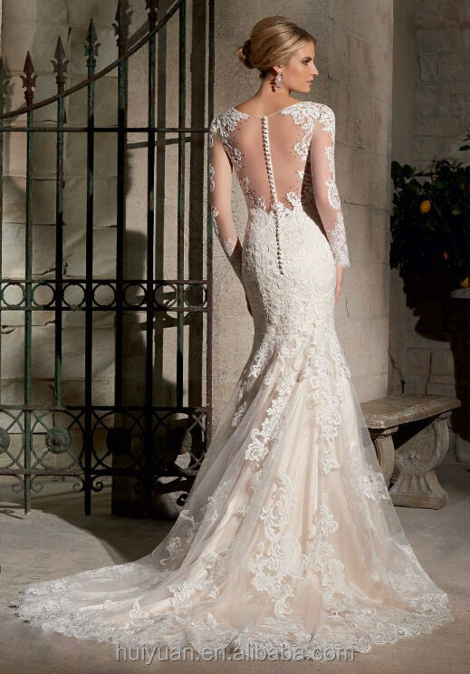 Elegant Long Sleeve Lace Cheap Wedding Dresses Under 200 - Buy ...