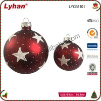 wholesale Christmas glass ball with hand painted for Christmas home decoration