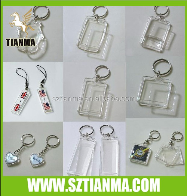 Custom Acrylic Blank Keychain With Any Items Inside Sanitary
