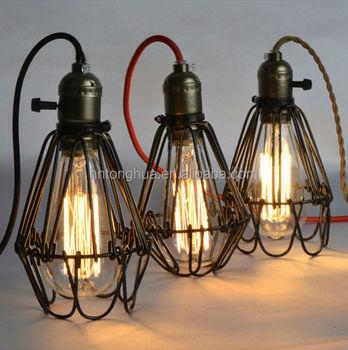 Industrial lamp guard cagevintage industrial metal shades