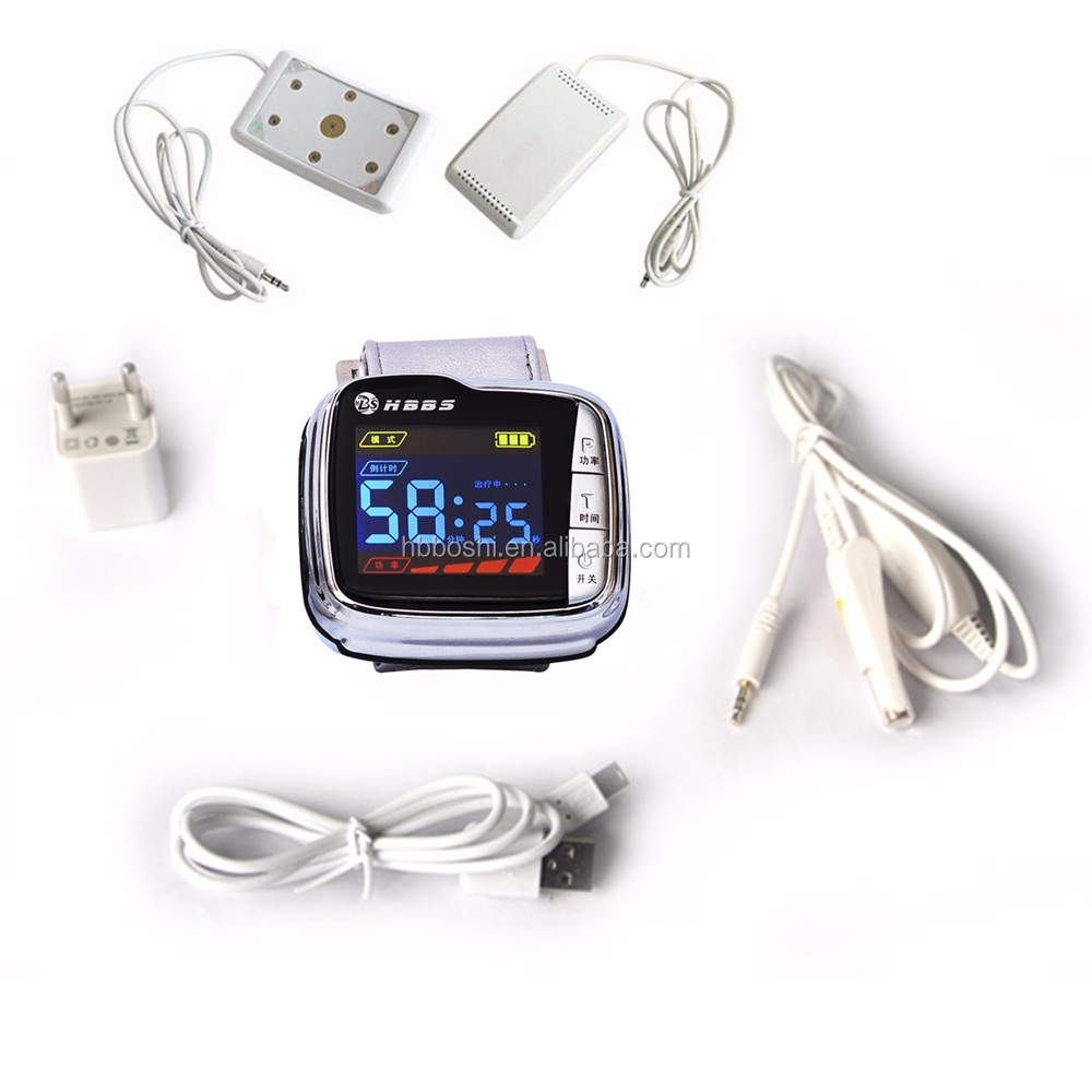 LLLT wrist watch laser device for hypertension rhinitis diabetic no drug