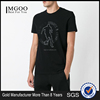 Hot Sale Black Cotton Blend Logo Printed T Shirt Football Sportwear Tees 100% Cotton GYM Fittness T Shirts Custom Made