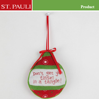 3 style family tree wall decor new design felt material cotton filling hanging wholesale christmas ball decoration
