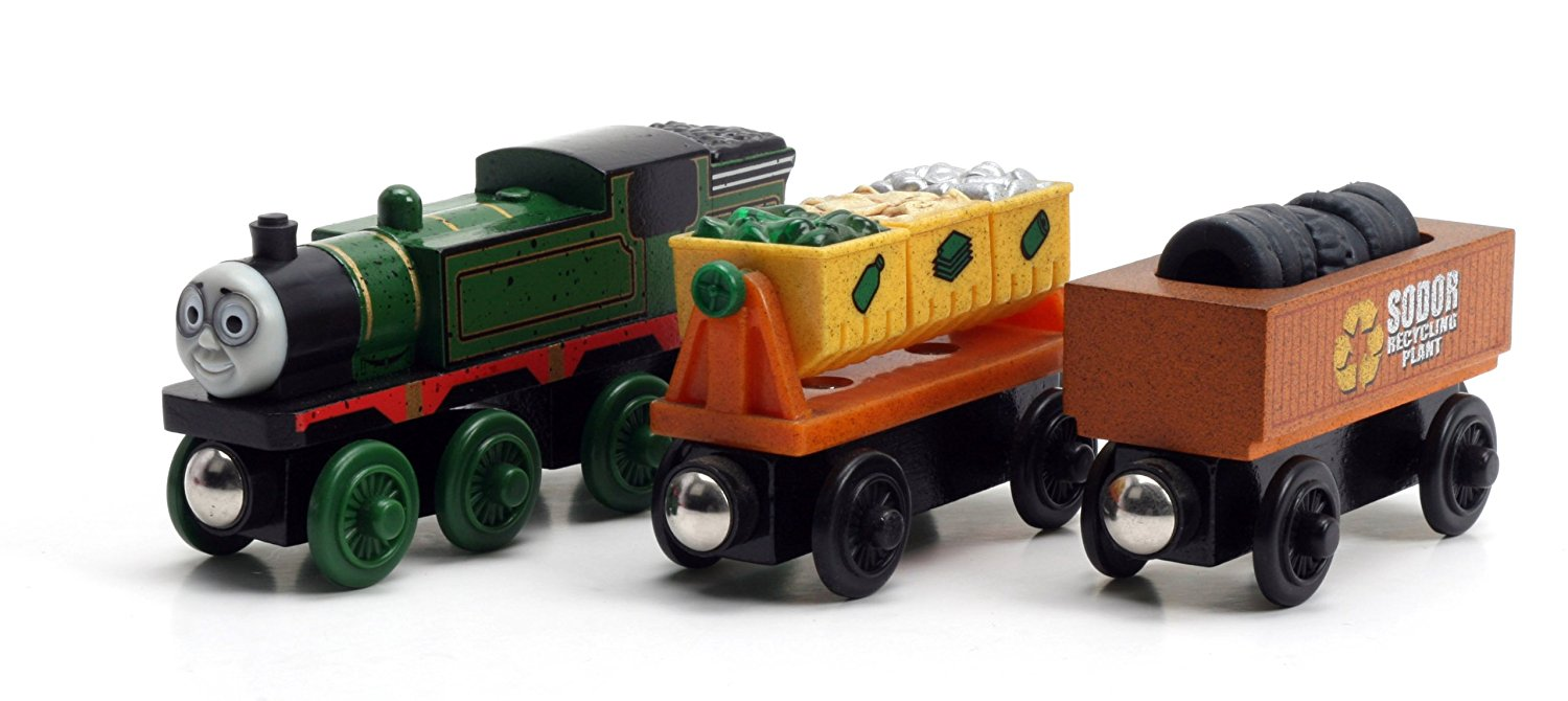 Thomas And Friends Wooden Railway - Whiff and the Scrap Cars