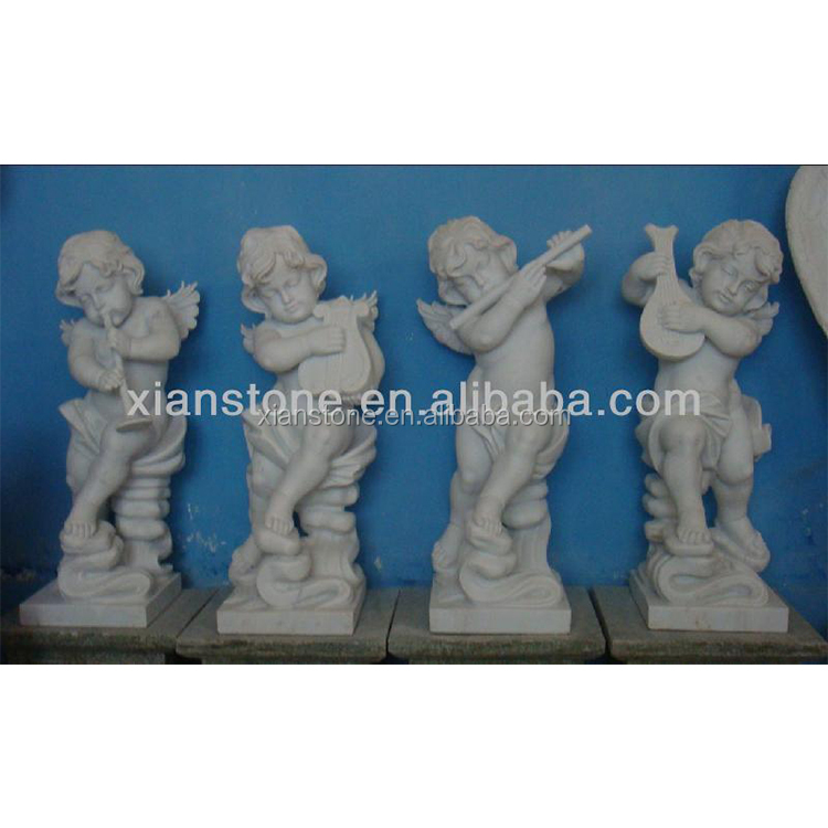 Natural White Stone Marble Music Angel Boys Garden Statue Buy