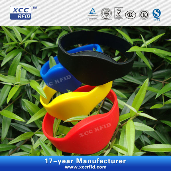 Reusable Silicone RFID Wristbands for swimming pool