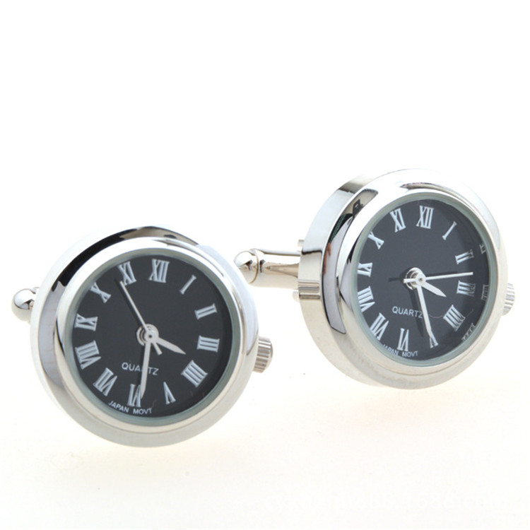 Wholesale Exquisite Import Mechanism Clock Cuff Links