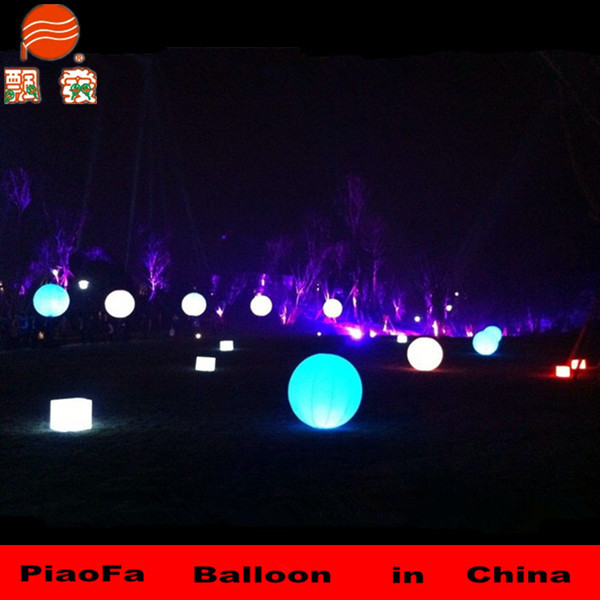 Glowing Led Party Ball Light Fairy Huge Led Light Balloon For Lawn ...