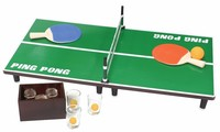 Table Tennis Set With Retractable Net Mini Ping Pong