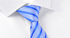 Fashion Wholesale Blue Stripe Jacquard Necktie In Polyester Ties