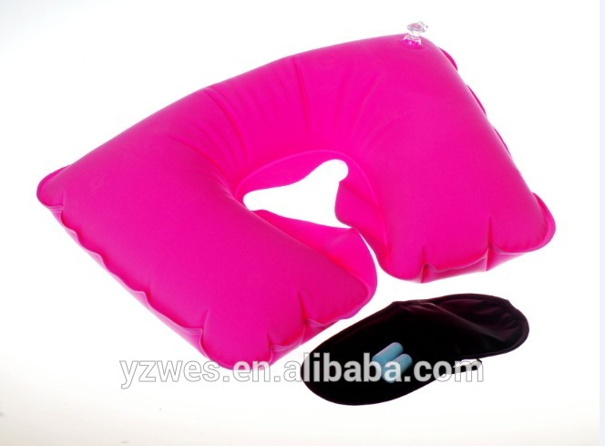 Self Inflating Camping Travel Pillow For Outdoor Sports Accessory