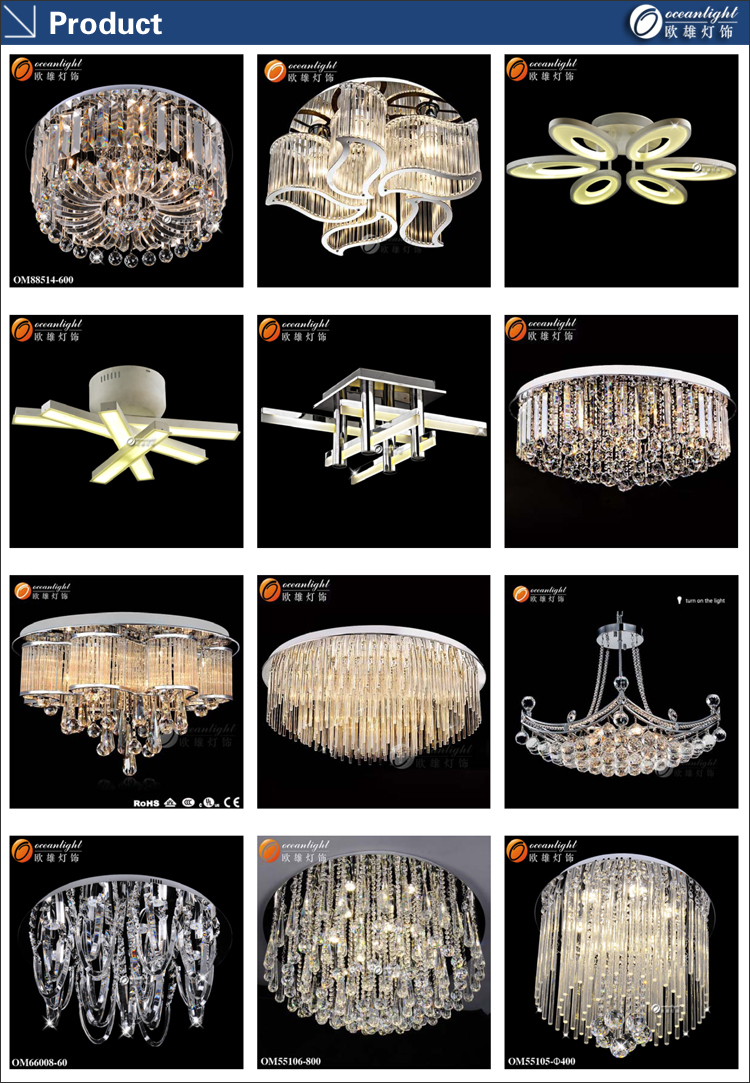 luxury crystal fancy light led ceiling lighting for living room om302 - Living Room Fancy Lights