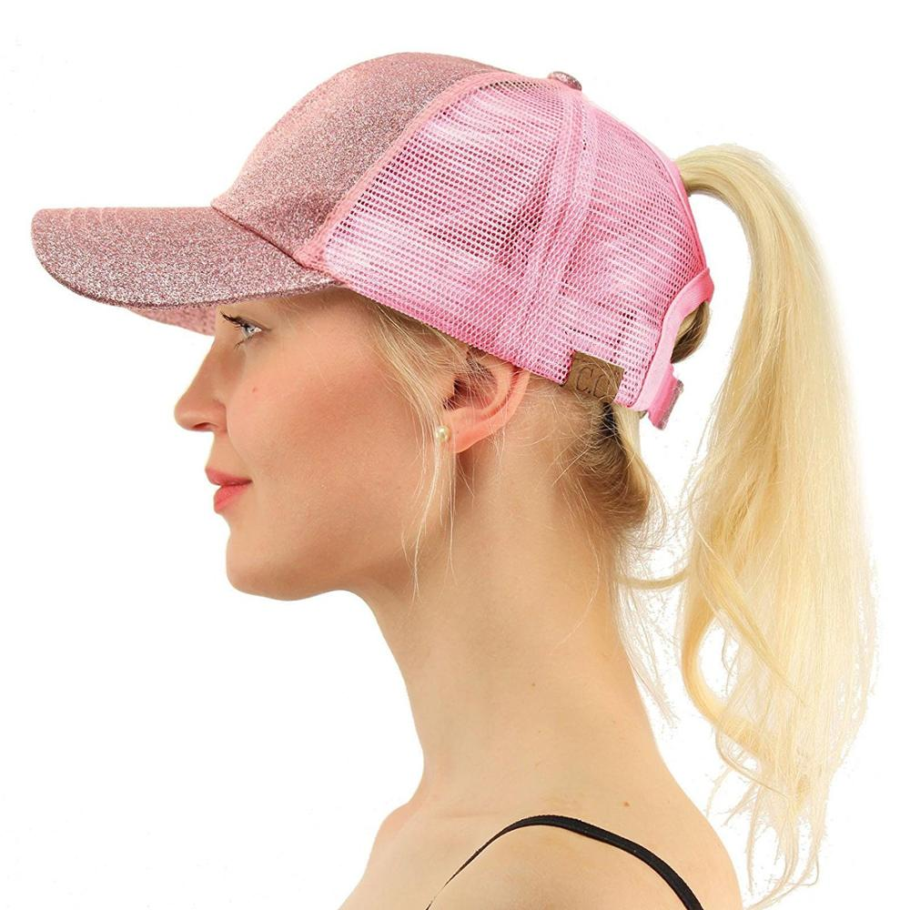 New Style Fashion Wholesale Sparkle Bling Glitter Summer Mesh Snapback Casual <strong>Cap</strong>