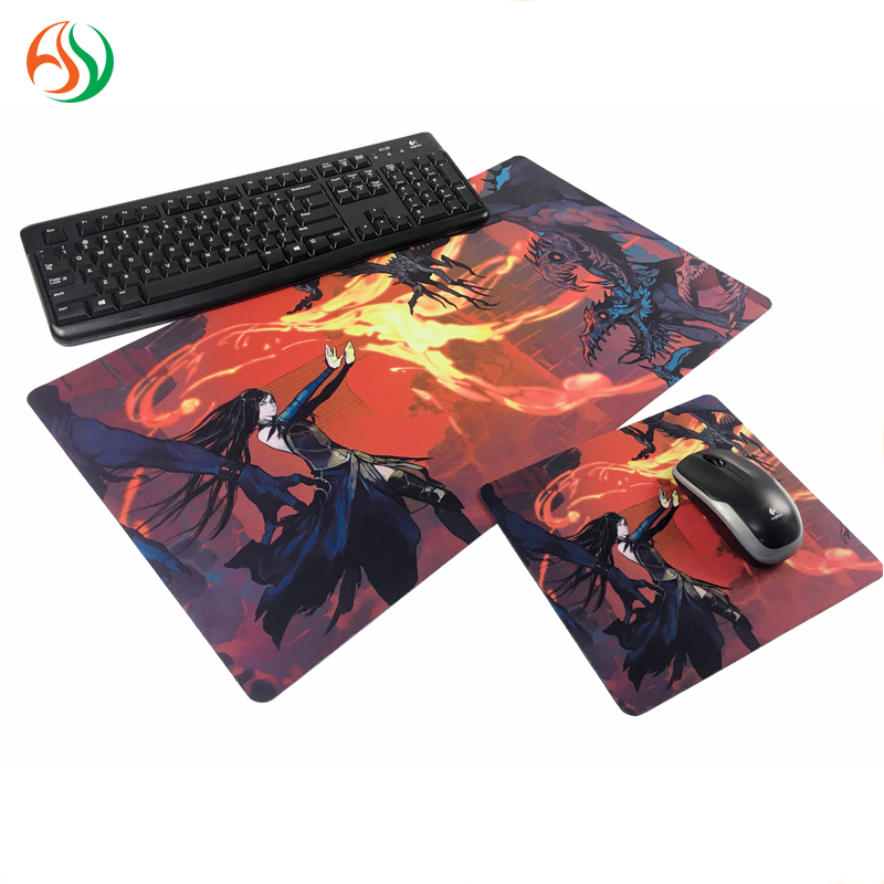 The Free Sample Die Cut Custom Printed Game MousePad RGB Paint Office Rubber Mouse Pad With Customized Logo For PC Gamer