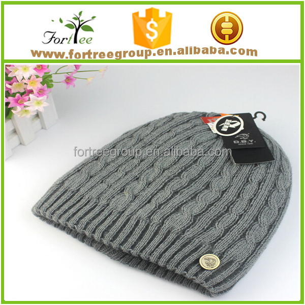 wholesale custom embroidered plain men beanie with custom tags
