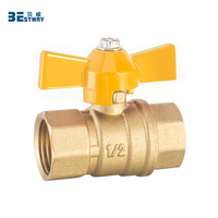 BWVA Well sold popular brass cw617n brass valve for gas