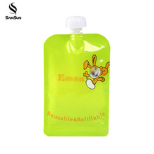 Wholesale Easy Carry Mobile Plastic Water Liquid Kettle Suction Nozzle Bag Drink Pouch Bag