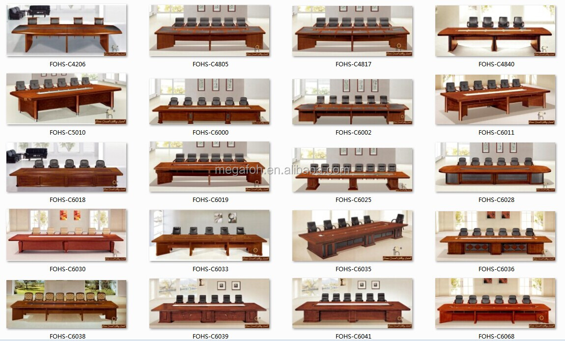 10 Person Table Part - 48: 10 Person Or More Conference Table / Custom Meeting Table Office Furniture  (FOHH-4803