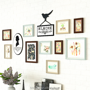 New Pastoral Style Multi Color Wall Photo Frame Set For Wedding Decor 10  Pcs Wall Picture