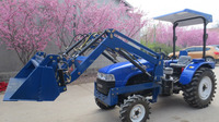 55hp 4WD small garden tractor with front end loader